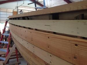 Spiling sheer plank