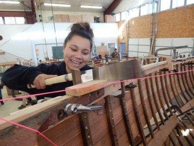 Tatyana Fealeolo-Nolan, 2015 Boat School student